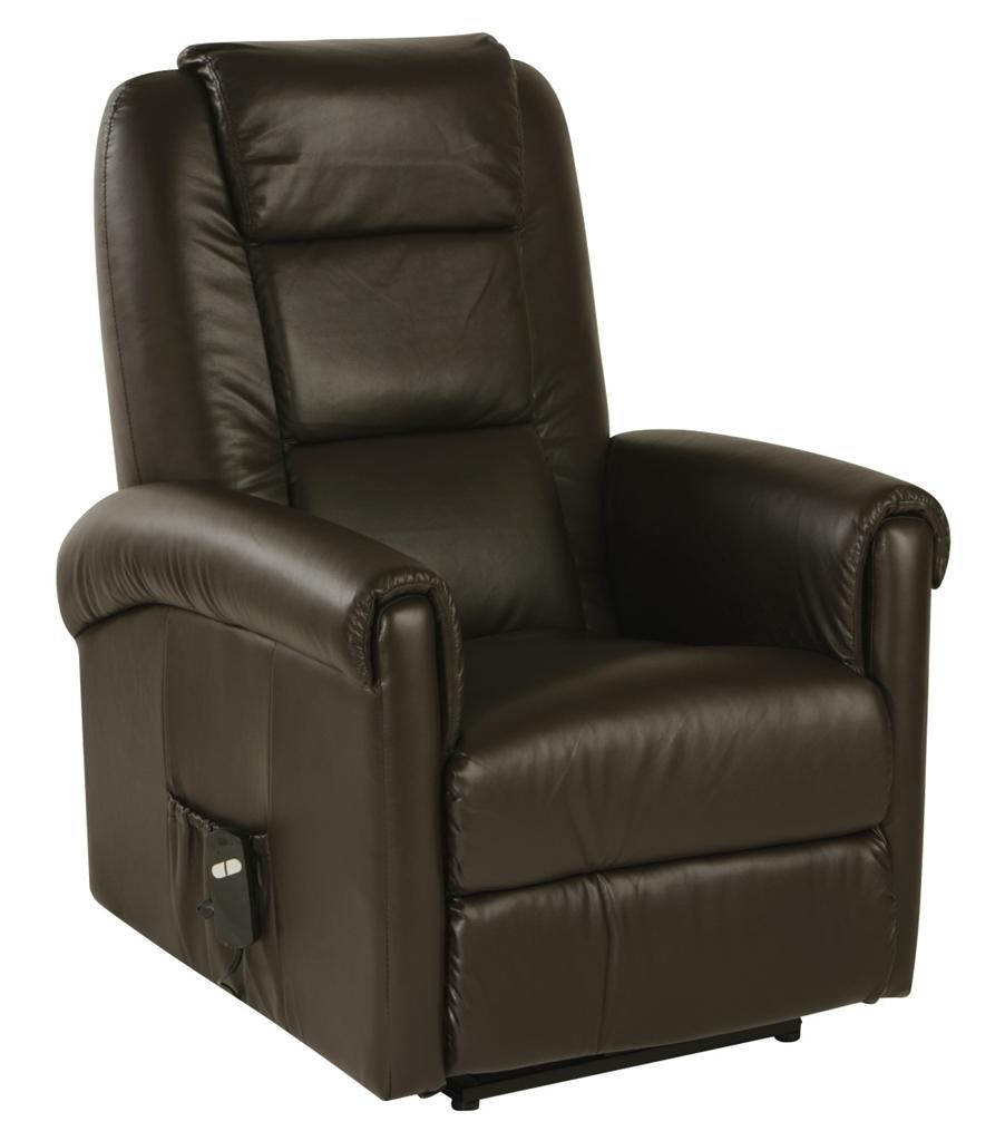 Relaxateeze Cortina Electric Recliner Chair Cream Brown Faux Leather EBay