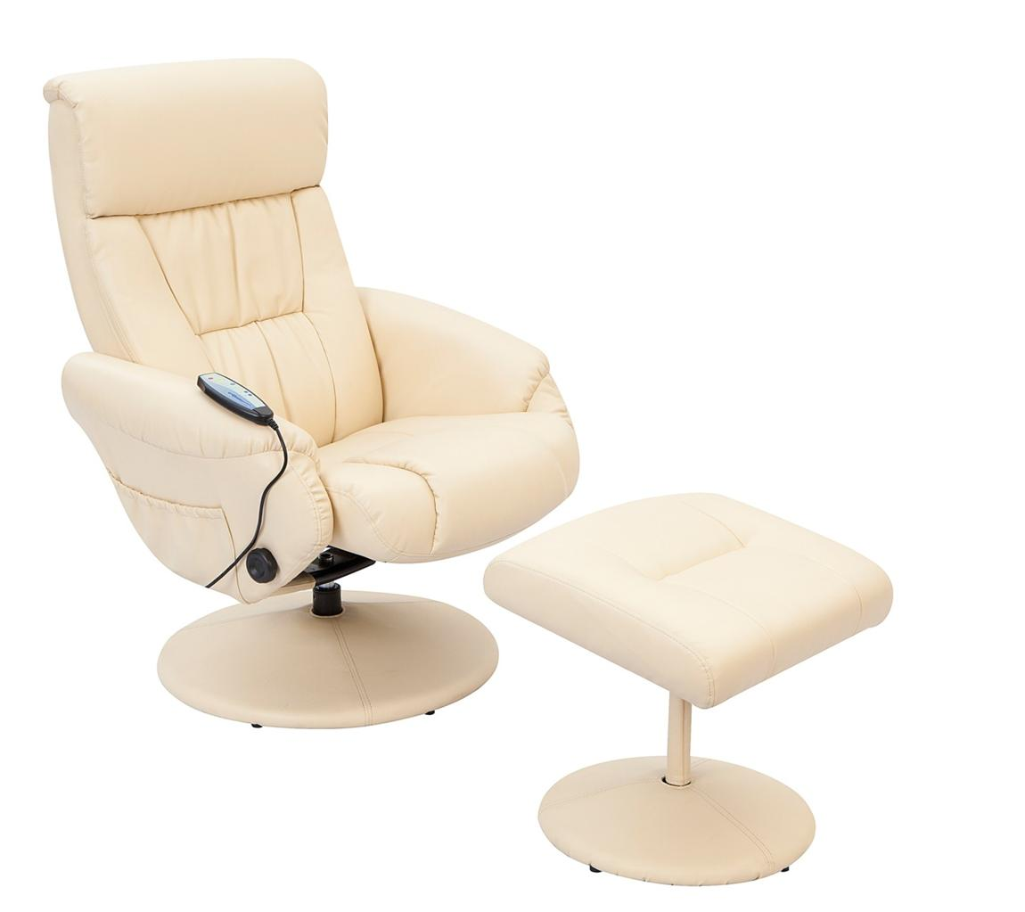 venice massage swivel recliner chair cream brown black faux leather