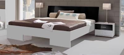 White High Gloss King Size Bed Frame German Black Designer