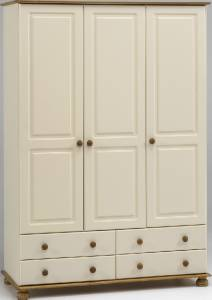 Steens Richmond Cream and Antique Pine 4+2 Chest of