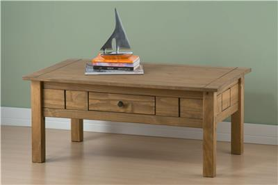 Birlea Santiago Coffee Table With Drawer Corona Mexican Solid Wood Furniture Ebay