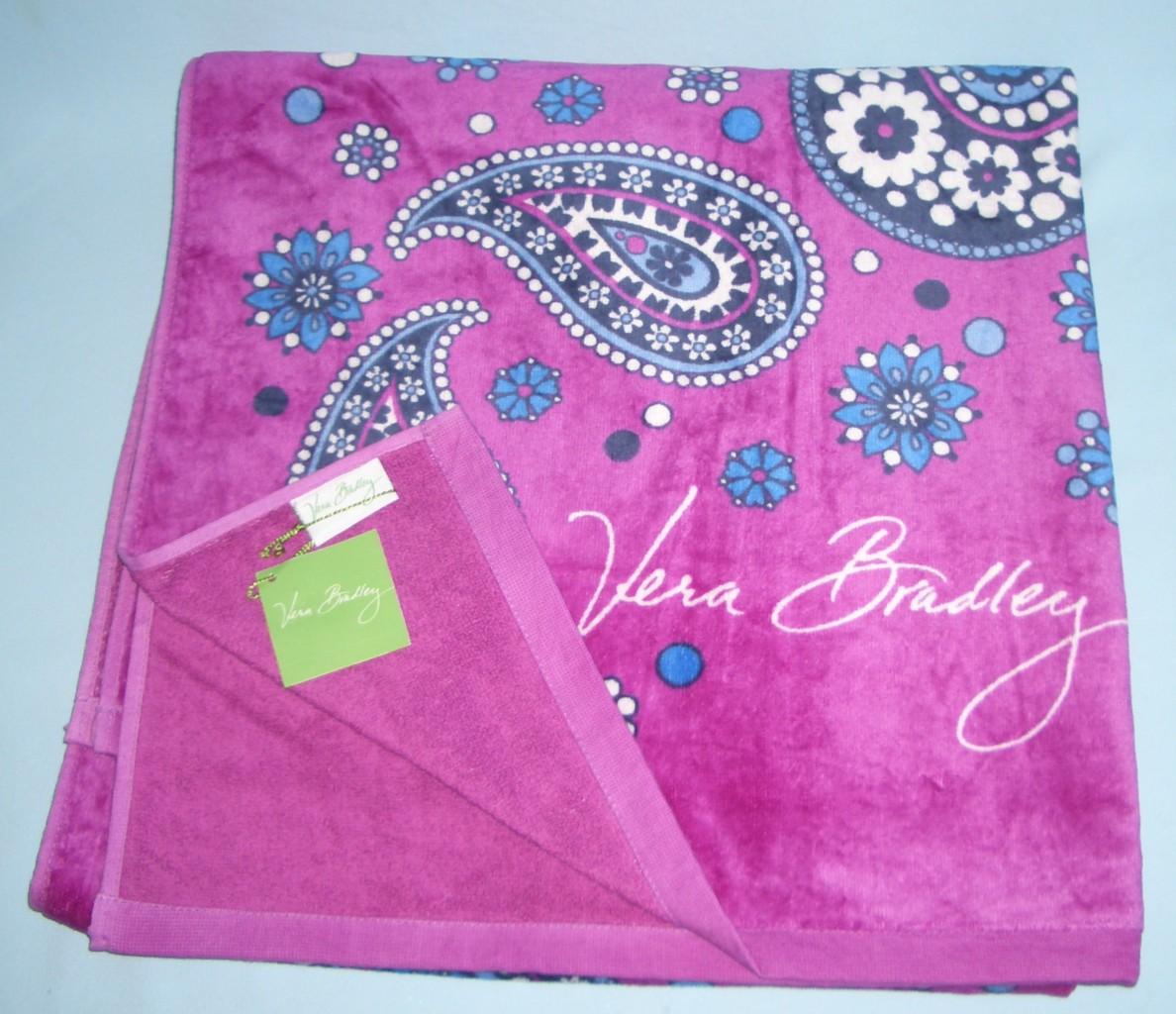 Vera Bradley Whale Beach Towel: Vera Bradley Bath Shower Resort Spa Beach Towel Choice Of