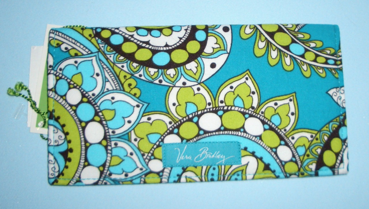 Cheque Book Cover Pattern : Vera bradley checkbook check book cover holder choice of