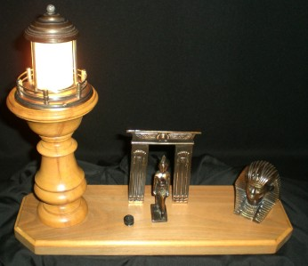 ART DECO EGYPTIAN REVIVAL KING TUT LAMP   EXCELLENT COND.