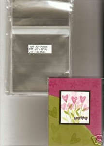 100-Clear-A2-Card-Envelopes-Fits-Stampin-039-Up