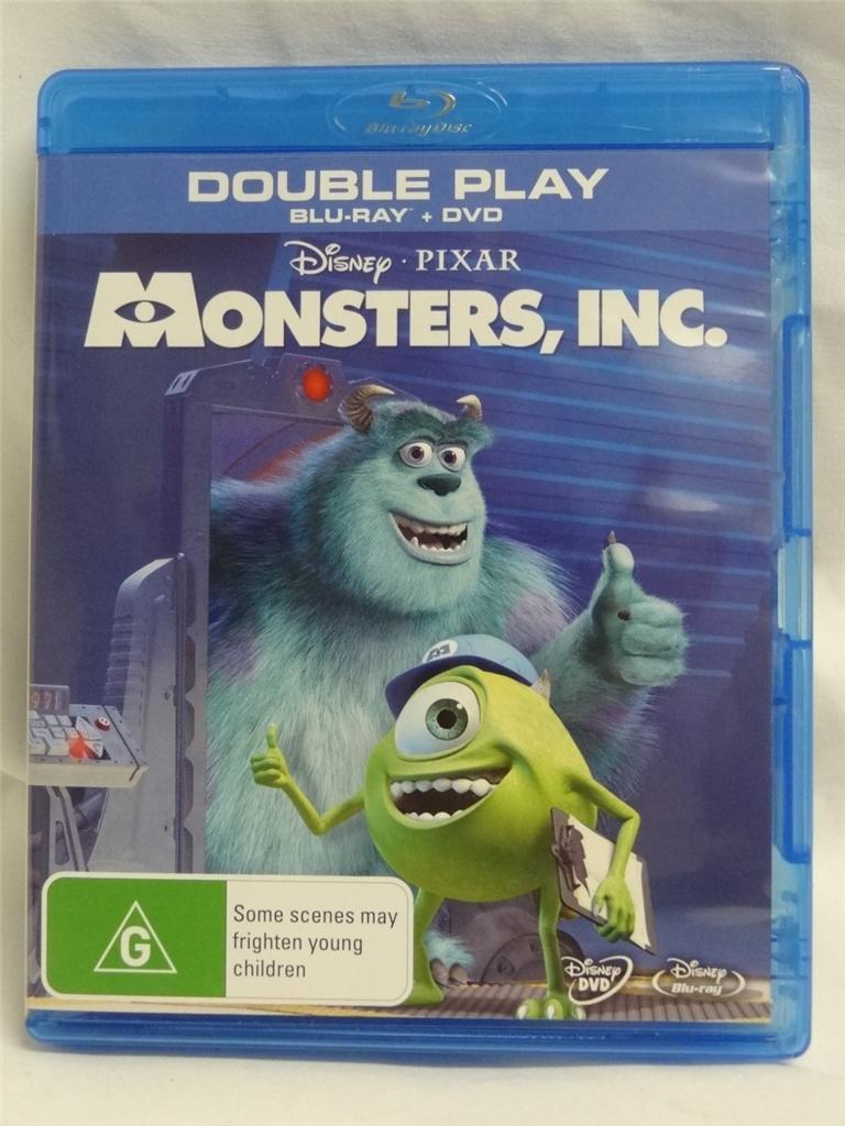 Monsters Inc Blu Ray Disc
