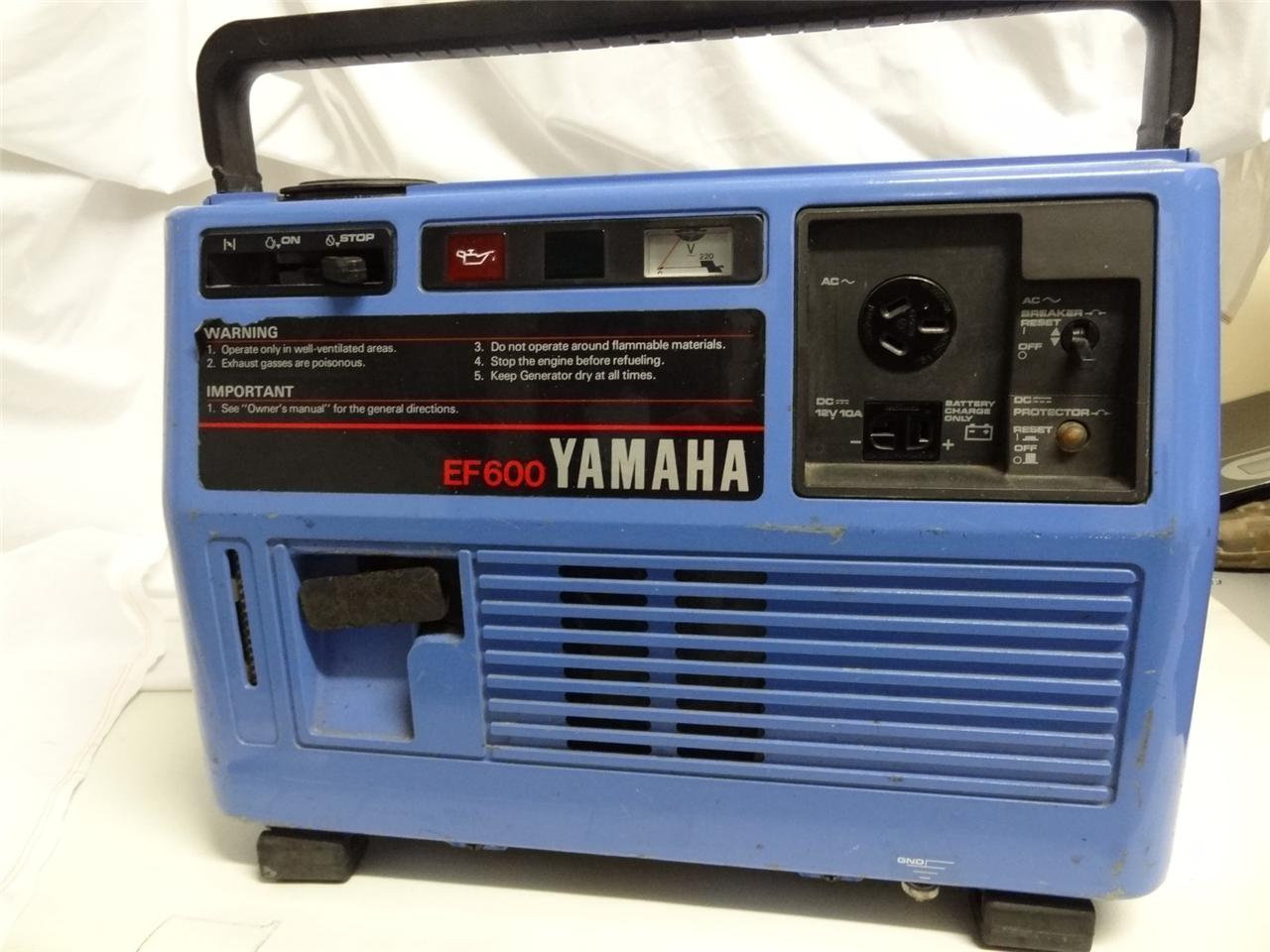 Yamaha ef600 portable generator ac dc 600 watts 4 stroke for Ef600 yamaha generator