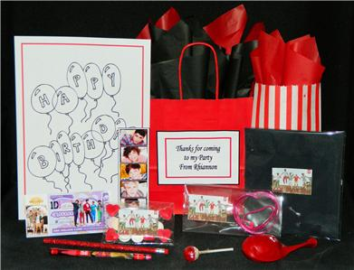 Details about ONE DIRECTION PRE FILLED PARTY BAG PERSONALISED