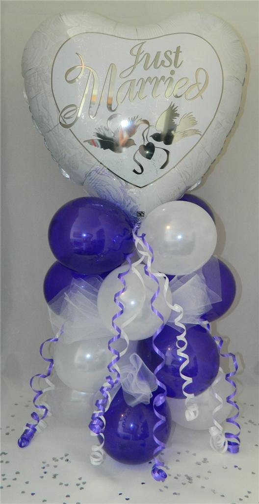 Just Married Wedding Celebration Balloon Display Table Centre Piece Free P&P