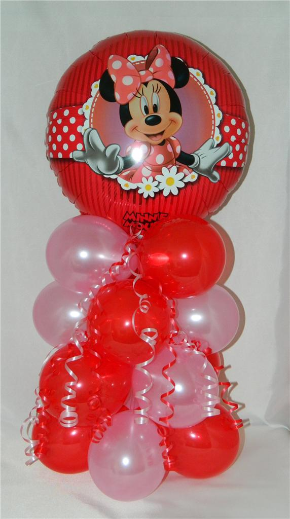 Minnie mouse foil balloon display decoration party gift for Balloon decoration classes