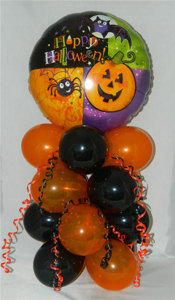 Halloween balloon display decoration party gift free1st for Balloon decoration for halloween