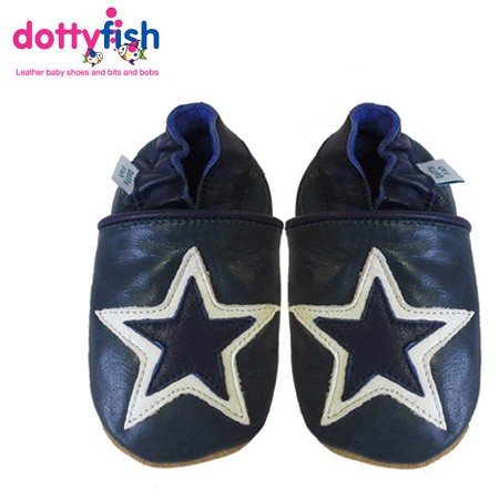 Nuevo-De-Cuero-Suave-Zapatos-de-bebe-por-Dotty-pescado-Ninos-0-6-Y-6-12-12-18-18-24-meses