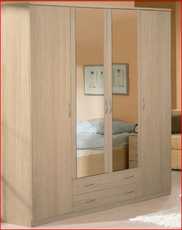 Onyx 3 Door Wardrobe Light Oak Bedroom Furniture Ebay
