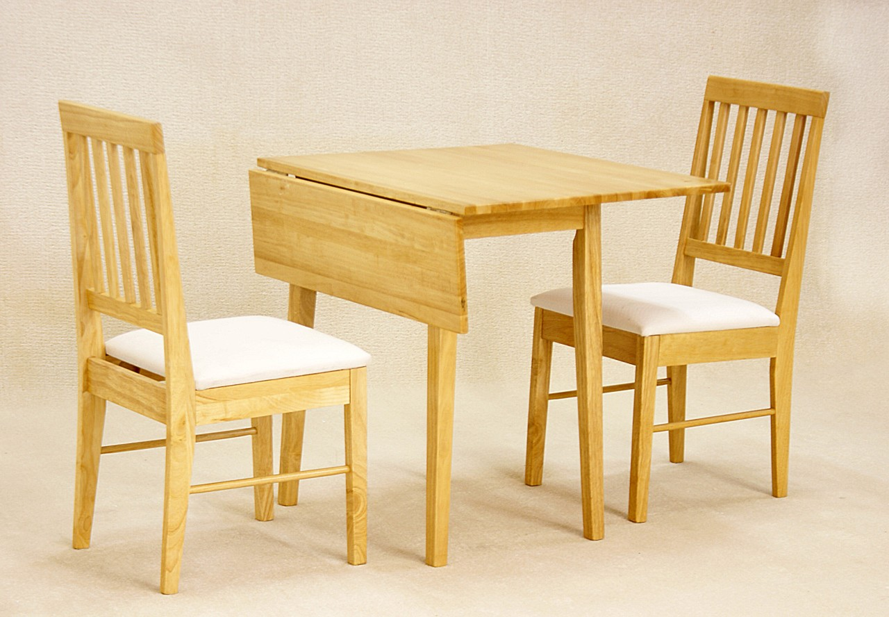 Alpes folding dining room set table and 2 chairs ebay for Folding dining room table