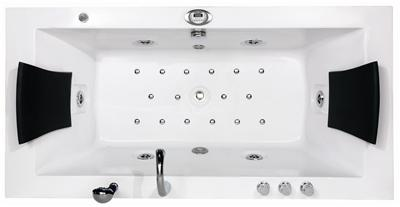 6 foot whirlpool luxury jacuzzi double bath radio air spa for Medidas jacuzzi 2 personas
