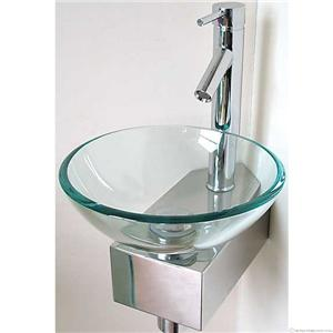 Modern Wall Mounted Glass Sink Corner Wash Basin Design Ebay