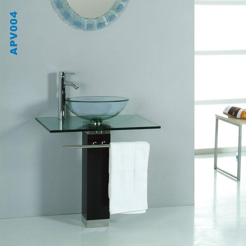 Glass Sink Unit : Glass-vanity-basin-designer-sink-countertop-bathroom-washbasin-bowl ...