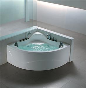 DOUBLE 2 PERSON WHIRLPOOL CORNER BATH Spa Jacuzzi LIGHT EBay