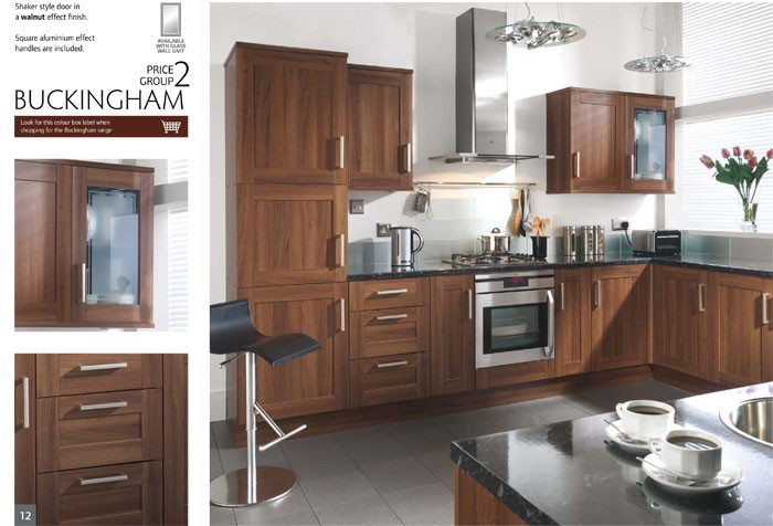 Complete kitchen unit set flat pack diy maple white gloss for Dark wood kitchen units