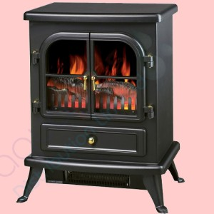 electric stove 1850 watts black cast iron finish log. Black Bedroom Furniture Sets. Home Design Ideas