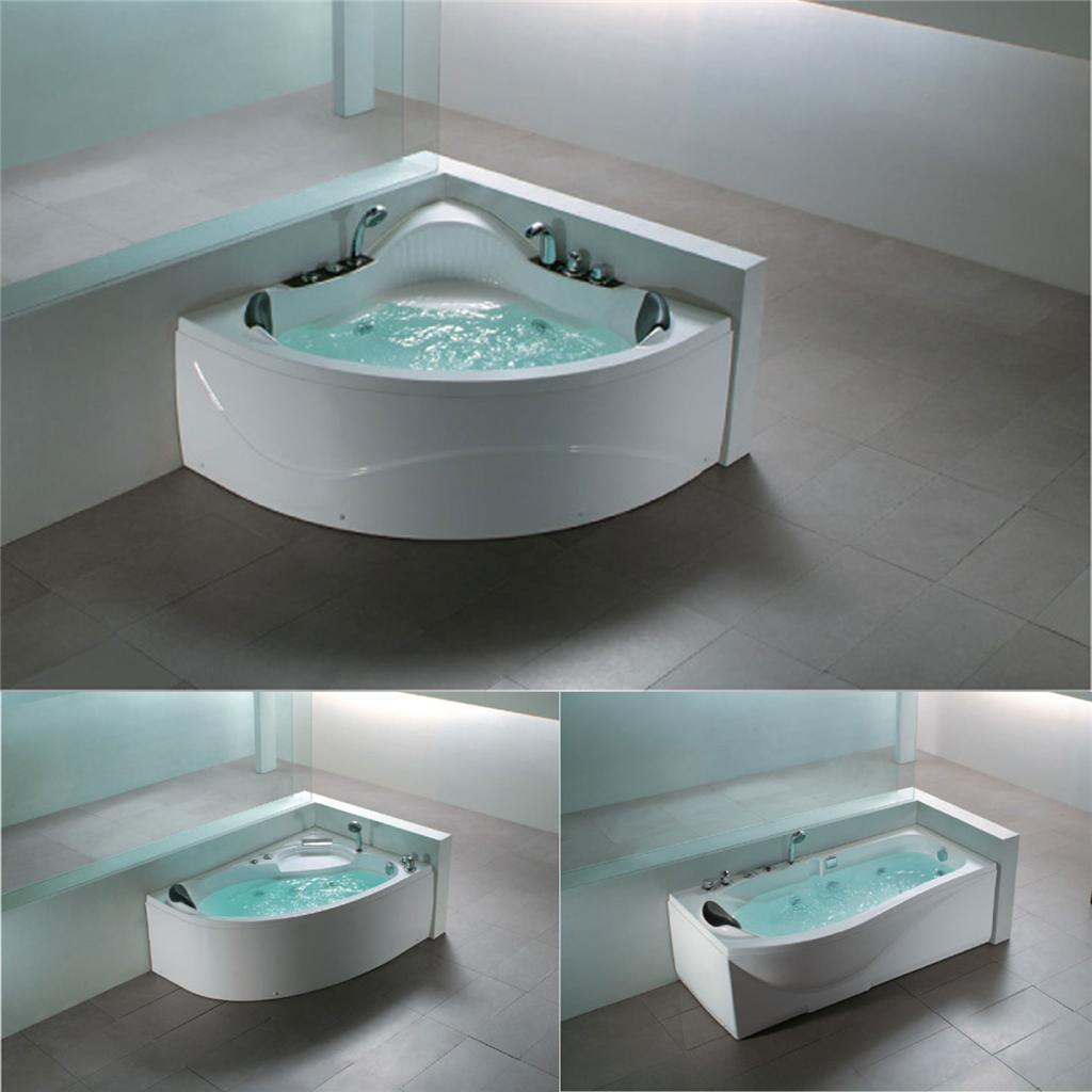 whirlpool spa designer straight corner offset bath panel. Black Bedroom Furniture Sets. Home Design Ideas