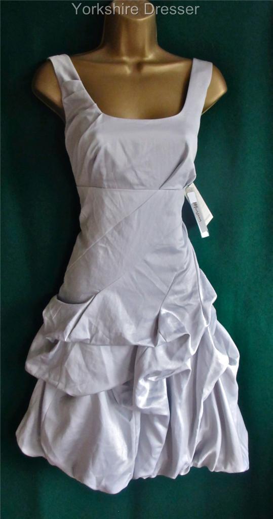 New MONSOON Silver Grey CARMEL Ruched Bridesmaid Bridal Wedding ...
