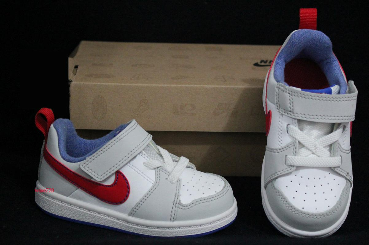GENUINE-NIKE-BABY-TODDLER-BOY-SHOES-TRAINERS-WHITE-GREY-RED-UK-3-4-5-6-7-8-9