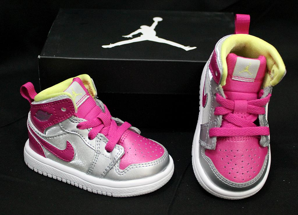NIKE-JORDAN-1-MID-FLEX-BABY-SHOES-SNEAKERS-SILVER-PINK-US-3-5-4-5-5-8-5-9-9-5