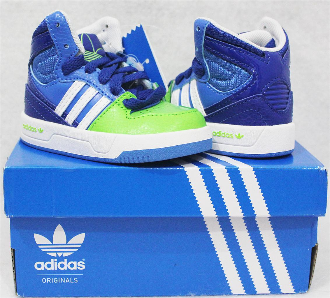 ADIDAS-ORIGINALS-COURT-ATTITUDE-BABY-TODDLERS-BOYS-SHOES-US-4-UK-3-BLUE-GREEN