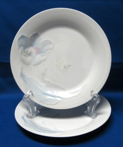 details about mikasa studio nova fine china tulip blue salad plates