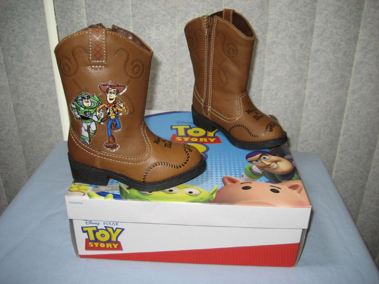 nib disney story 3 brown cowboy boots light up size 6