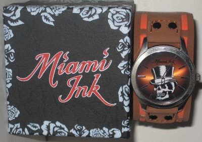 Love Hate Tattoos Miami on Love Hate Miami Ink Skull Top Hat Tattoo Wrist Watch   Wristwatches