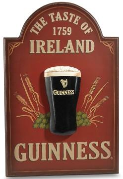 Guinness Irish Beer Wood 3D Pint Glass Pub Bar Sign New