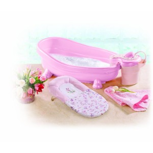 summer newborn baby infant girl spa shower whirlpool bubble bath tub