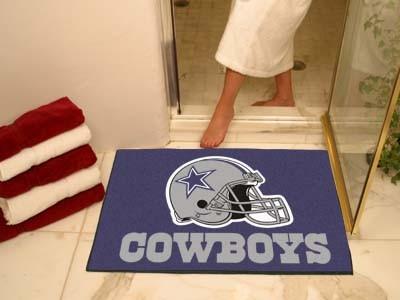 New Dallas Cowboys NFL Football Game Team Player Helmet Area Bath Rug Floor Mat