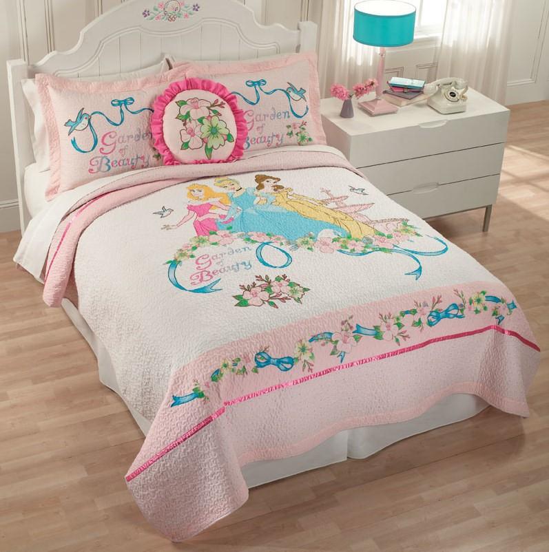 Posh Bedrooms For Girls Disney Princess Bedroom Accessories Bedroom Sets At Value City Bedroom Sets With Platform Beds: GIRLS DISNEY PRINCESS PINK BELLE CINDERELLA TWIN FULL