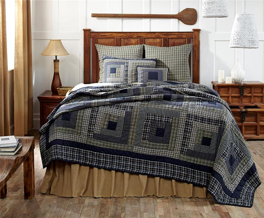 Cal King Plaid Bed Quilt