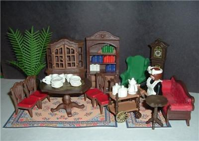 Playmobil 5320 victorian dining library living room for Playmobil dining room 5335