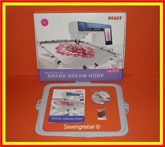 pfaff grand dream hoop instructions