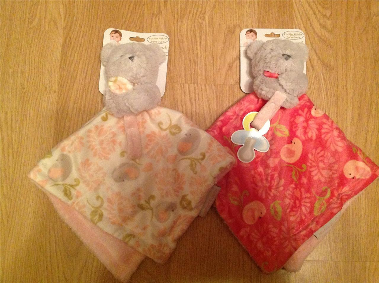 NEW-BLANKETS-BEYOND-Velour-TEDDY-BEAR-Comforter-Security-Comfort-Nunu-Blankie