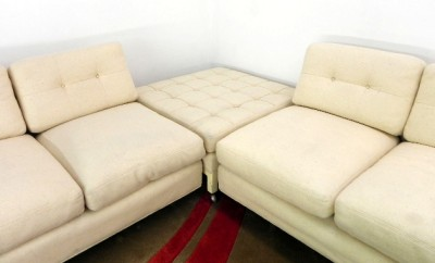 Sectional Sofa  Ottoman on Harvey Probber Sectional Sofa Ottoman Wool Upholstery   Ebay
