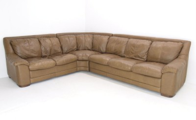 nicoletti italian leather sectional corner sofa ebay. Black Bedroom Furniture Sets. Home Design Ideas