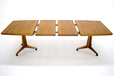 Walnut Dining Table On Mid Century Modern With 2 Leafs By John Widdicomb