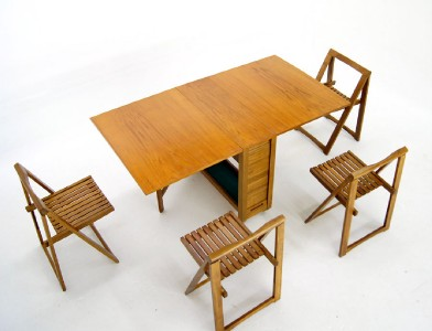 Danish Mid Century Modern Drop Leaf Dining Table 4 Self