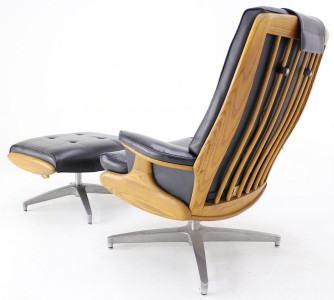 Heywood Wakefield Lounge Chair Ottoman Eames Style Mid