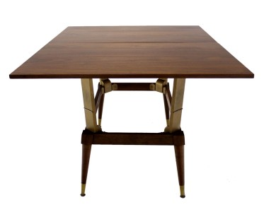 Danish Mid Century Modern Convertible Coffee Dining Table Walnut Ebay