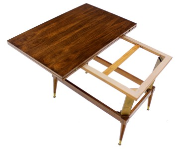Danish Mid Century Modern Convertible Coffee Dining Table Walnut