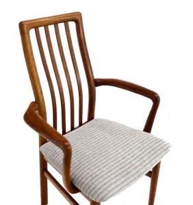 Set Of 8 Mid Century Danish Modern Teak Dining Chairs New Upholstery EBay