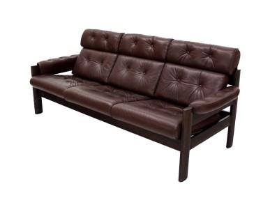 lovely lovely mid century danish modern leather sofa near mint