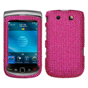 Hot Pink Crystal Bling Case Cover BlackBerry Torch 9800